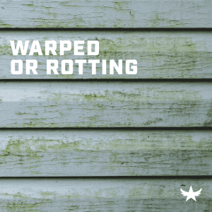 Warped or Rotting Siding